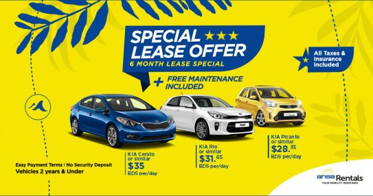 Ansa Rentals Barbados Special Lease Offer